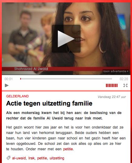 screenshot van SBS6 Hart van Nederland programma gemist