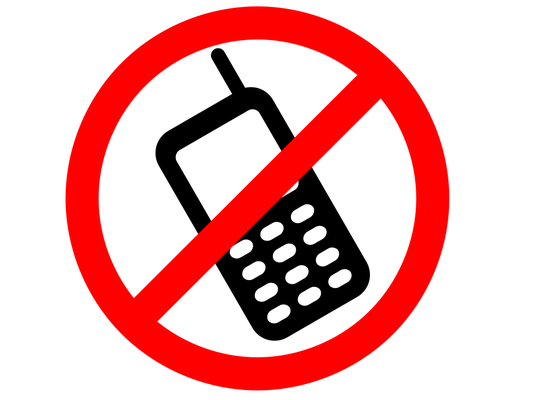 Phones forbidden