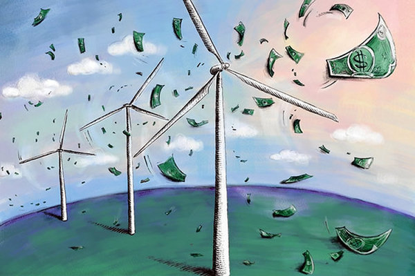 Wind turbine money