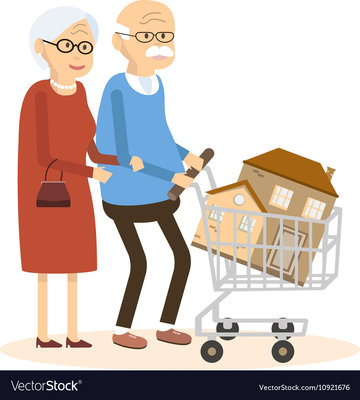 Seniors couple buying a home vector 10921676
