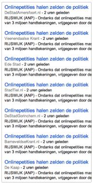 screenshot van Google Nieuws
