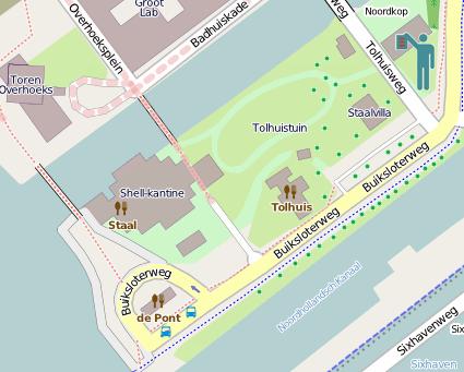 Lokatie postadres volgens OpenStreetMap Nederland