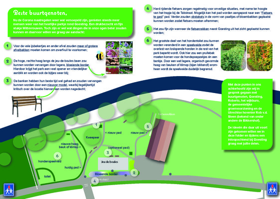 Flyer plan dressuurpark