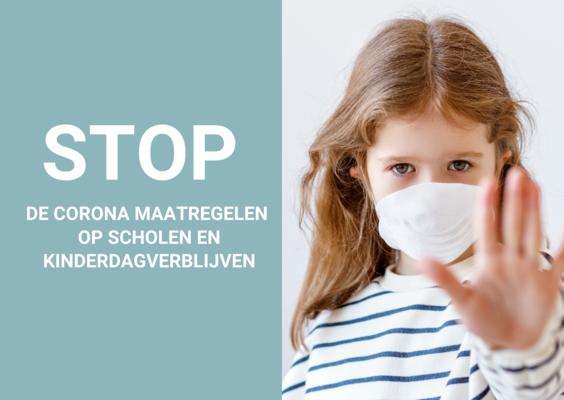 Stop de corona maatregelen voor onze kinderen