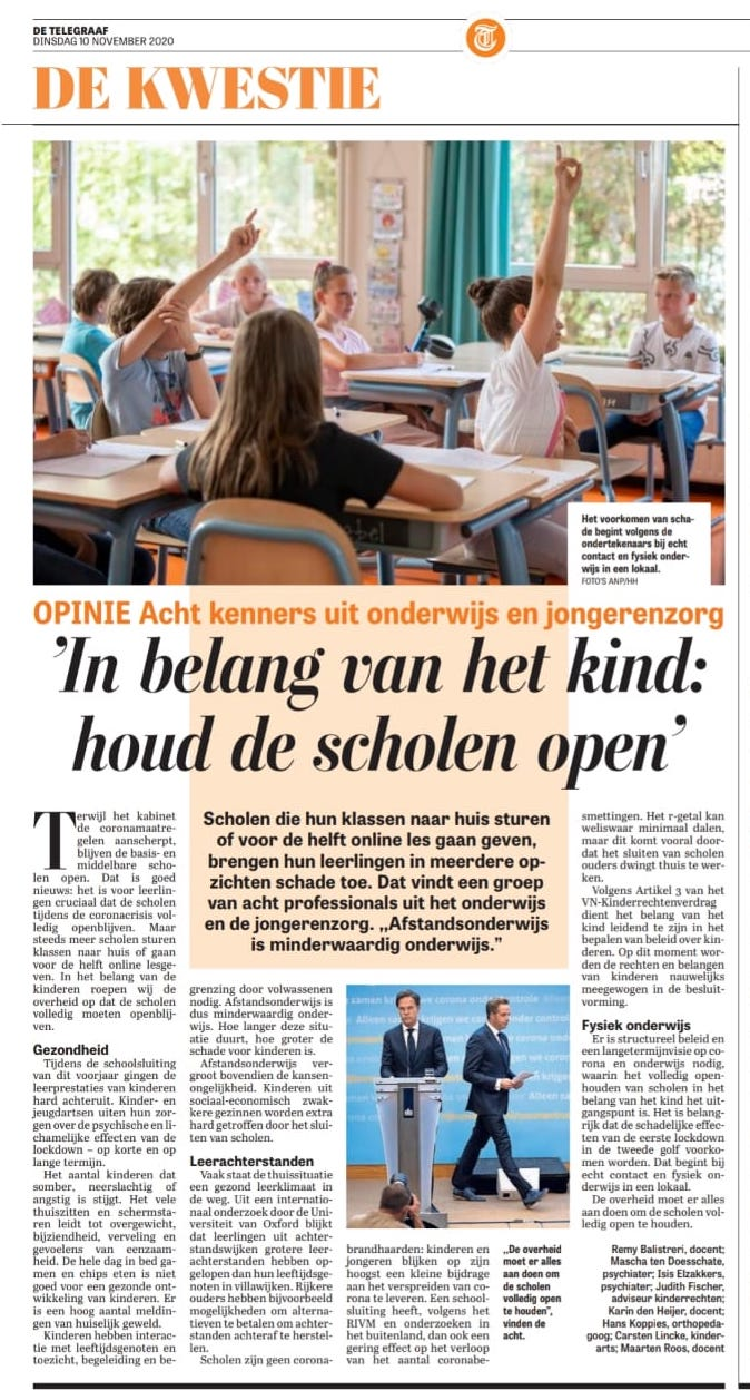 De Telegraaf 10 nov 2020