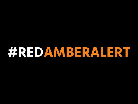 Visual red amber alert 4x3