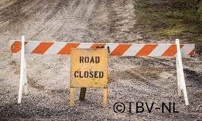 Road closed tbv