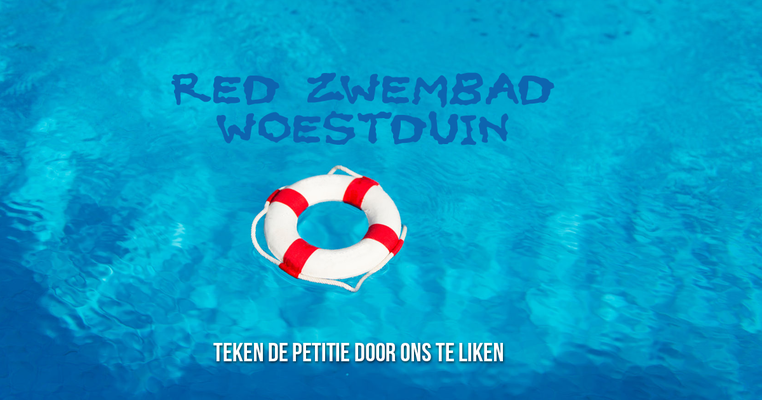Red zwembad woestduin
